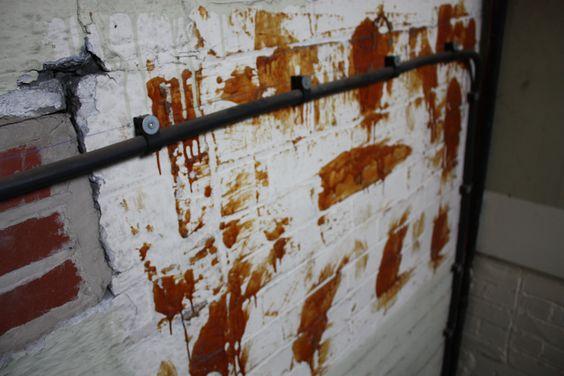 wall vandalised
