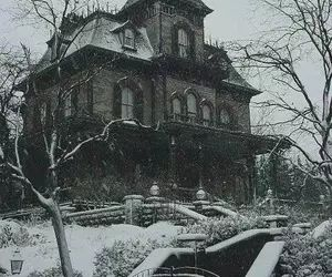 old beautiful house in winter