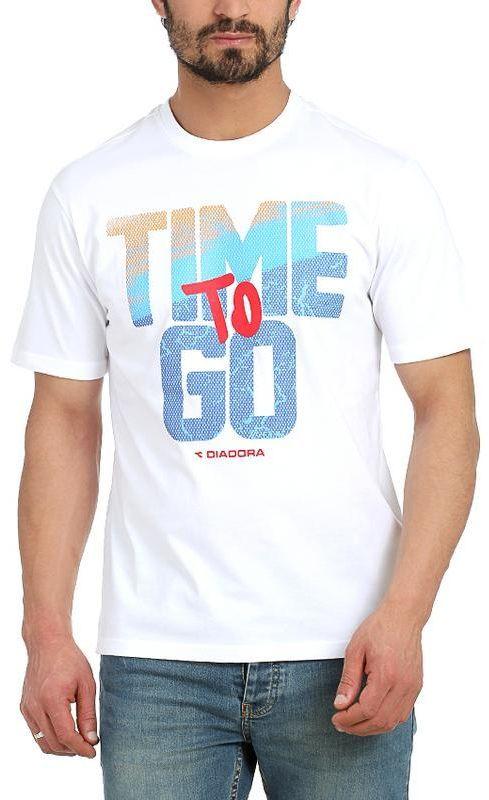 Diadora 217027 T Shirt For Men White Mens Tshirts Mens Tops Shop Mens Fashion