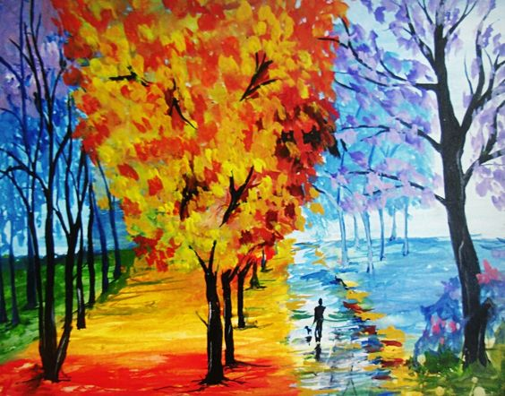 i tried to paint leonid afremov painting