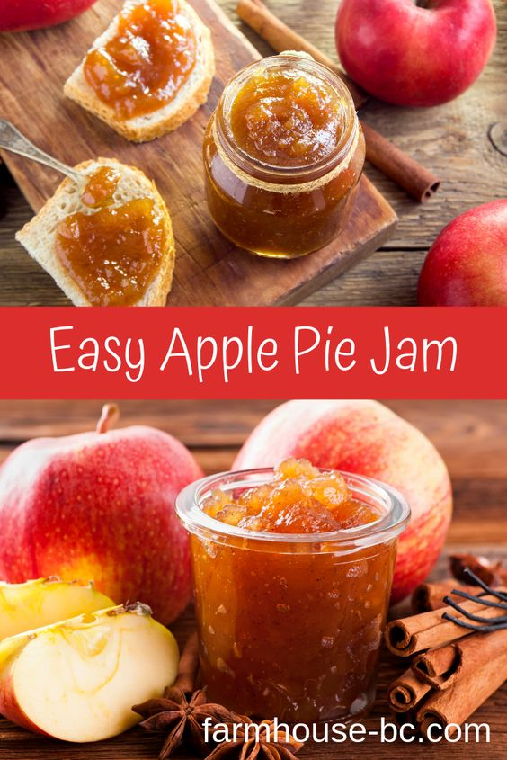 Apple Pie Jam, super easy and goes well with desserts even ice cream! Free Recipe, ad-free blog!