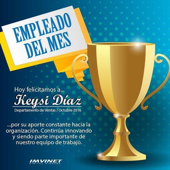 Felicitamos a Keysi Karela Diaz Sanoja por su desempeño destacado el mes de Octubre gracias por tu profesionalismo y las ganas de crecer como equipo! #felicidades #EmpleadodelMes #telomereces