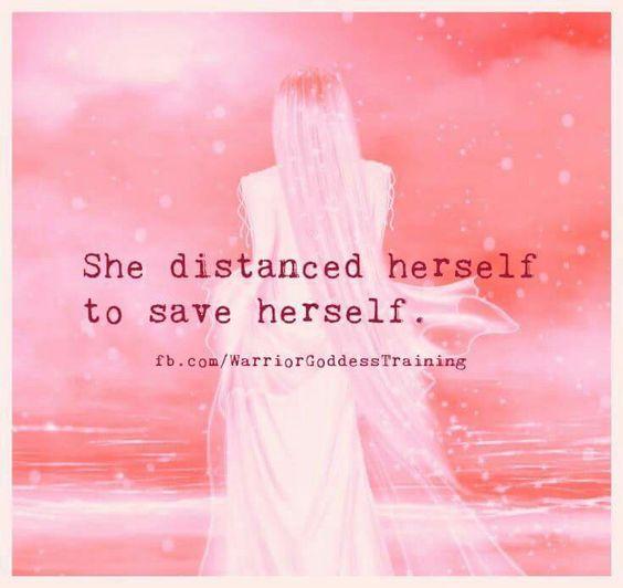 Saving herself...