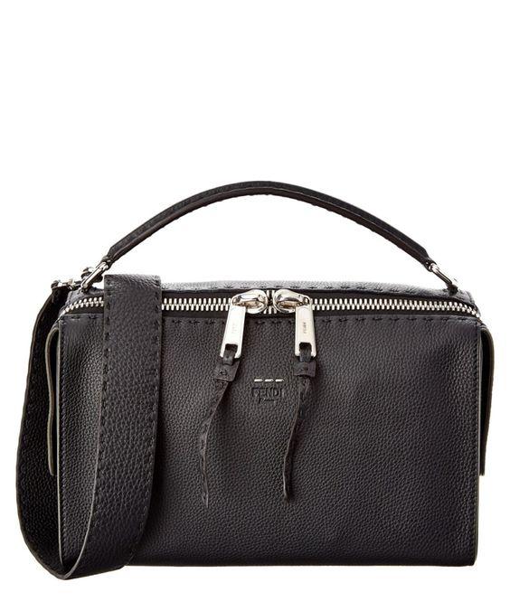 FENDI Fendi Lei Selleria Leather Boston Bag'. #fendi #bags #shoulder bags #hand bags #leather #lining #