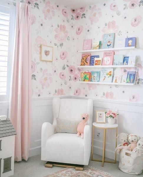 Bella Wallpaper Peel Stick Vintage Floral Wallpapers Nursery Wall Decor Removable Wallpaper