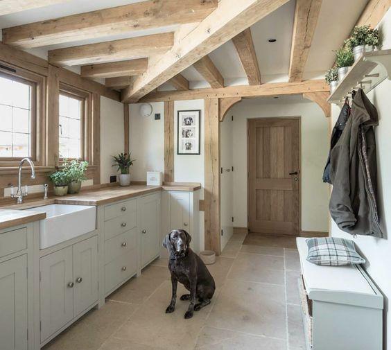 Love This Kitchen The Beams Wood Floors White Cabinets: Divine Kitchen, Border Oak (Divine German Pointer Too!)