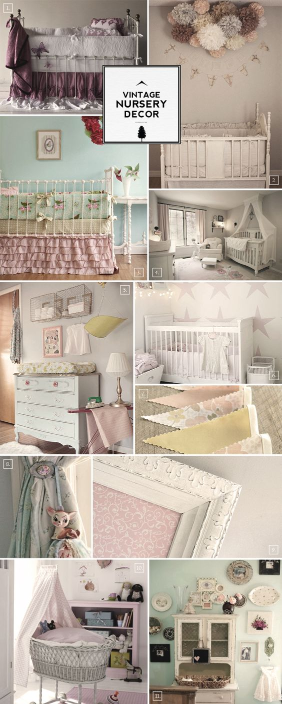 The biggest piece of furniture in the nursery room is going to be the crib, so this becomes the focal point in the room. If you can get a vintage styled crib then you're halfway to creating the look – just like in pictures (1) and (2). Even if you can't buy the right looking […]