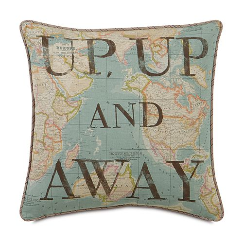 Loved this until I read the rest...   Take off on a journey with the Hermes Block Printed Up, Up and Away Decorative Pillow! Features decorative fabrics on both sides with a high-quality polyester fiber pillow insert. Zipper closure for easy care. $88