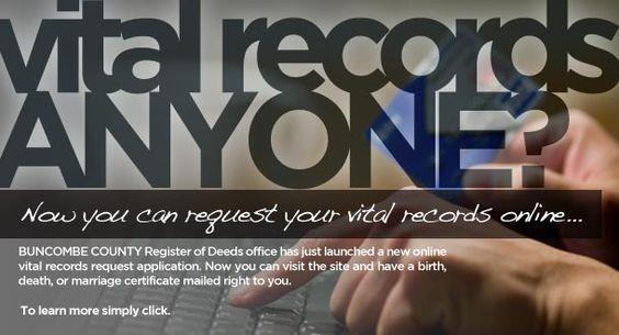 Buncombe County Register of Deeds website