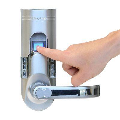 Itouchless Electronic Door Lock Bm00 Biomatic Fingerprint Lock Keyless Entry Handle Fingerprint Door Lock Home Technology Door Locks