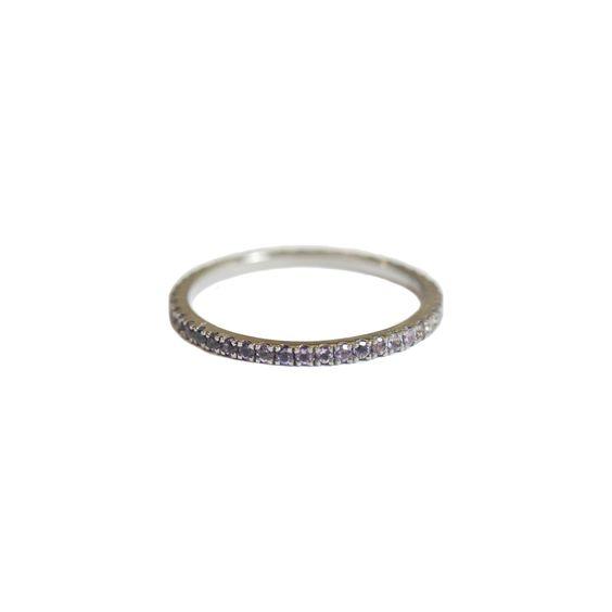 Josephine 1mm Band Silver Amethyst