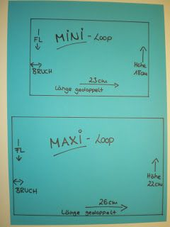 Maße Loops einfach für Kinder
