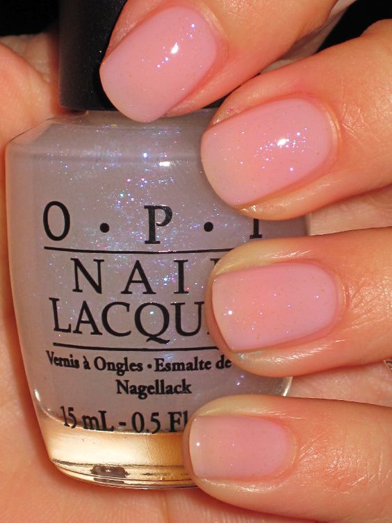 """I juggle . . . men"" OPI (just clear, barely there sparkles"