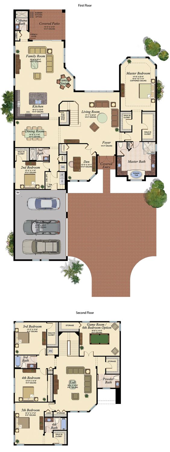 PRESTON/755 Floor Plan (Large View)
