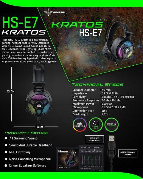 Headset Gaming Nyk Hs E7 Kratos Rgb Headset Main Game Game