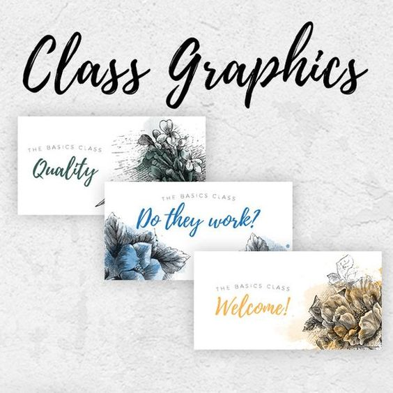 Class Graphics - Essential Oil 101    Downloads