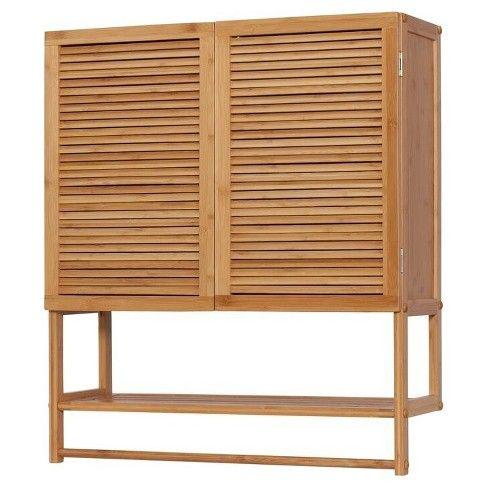 Wall Cabinet, Bamboo Bathroom Wall Cabinet