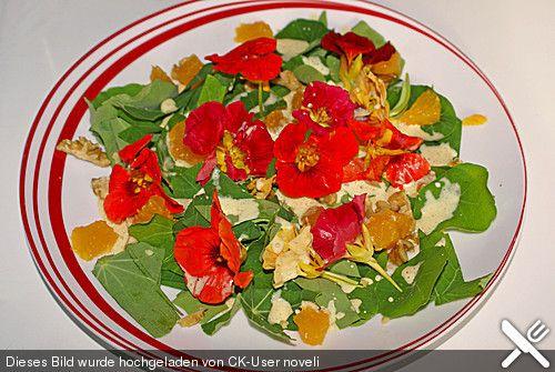 Kapuzinerkressesalat mit Joghurtsauce, ein schönes Rezept aus der Kategorie Snacks und kleine Gerichte. Bewertungen: 13. Durchschnitt: Ø 4,3.