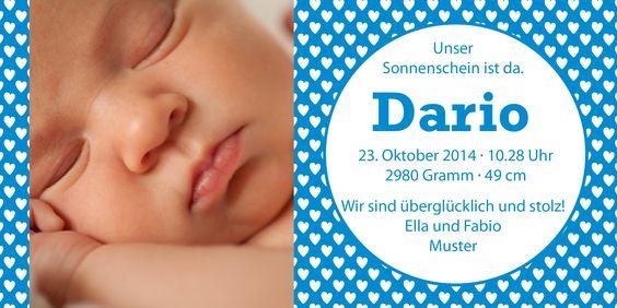 Babykarten von www.babykartenshop.ch