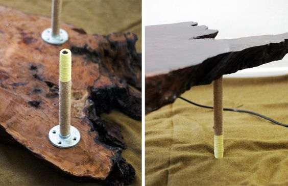 twine wrapped color dipped d.i.y. table legs