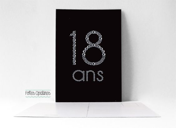 folies opalines carte d 39 anniversaire 18 ans tag postale fille ado adolescent. Black Bedroom Furniture Sets. Home Design Ideas