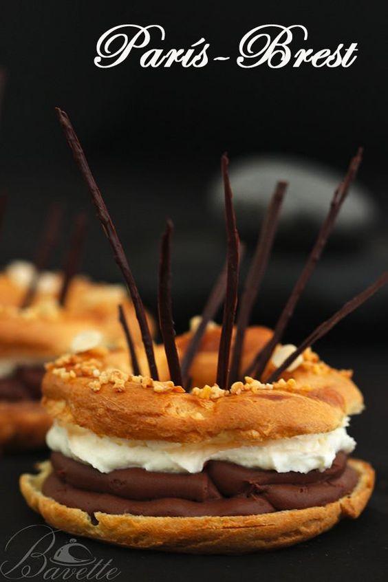 París-Brest con cremoso de praliné y chocolate