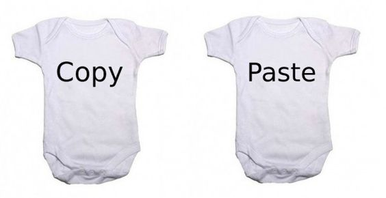 Awesome Baby | Copy & Paste Twin Bodysuits £9.99