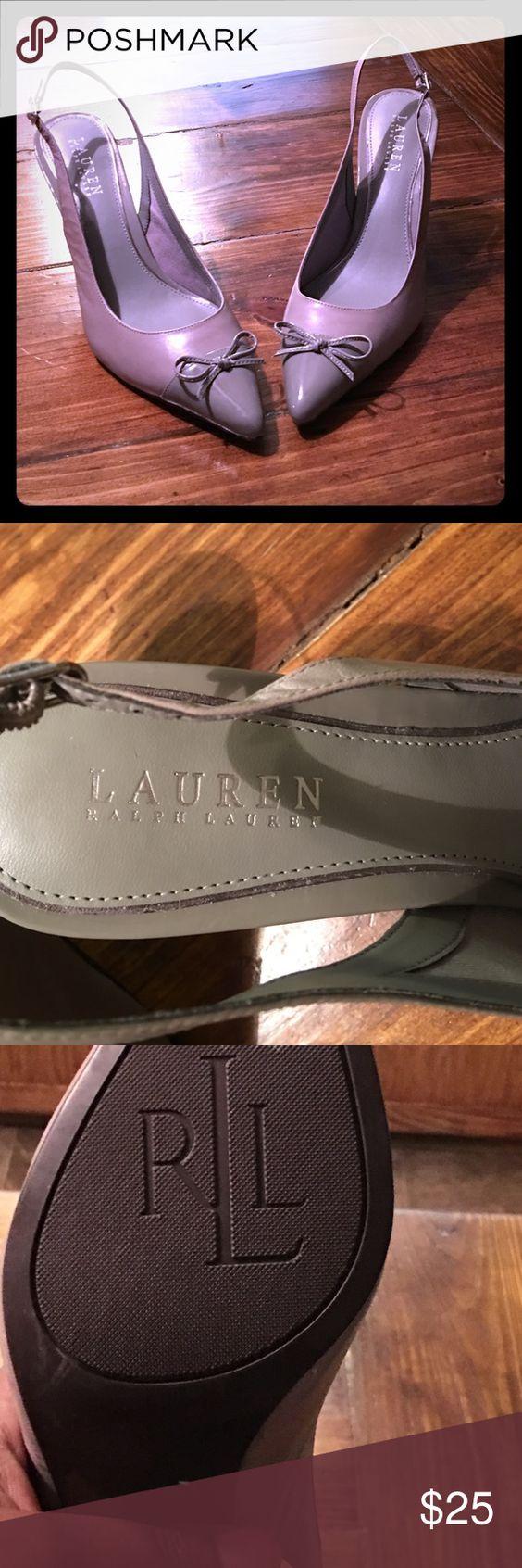 Ralph Lauren pumps Great condition and very classy Ralph Lauren heelless pumps. Color is a beautiful cool grey. 3 inch heel Lauren Ralph Lauren Shoes Heels
