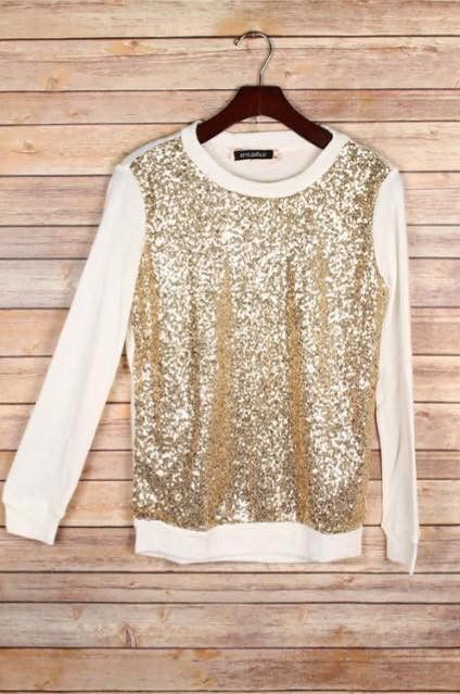 Gold Sparkles Sweater: $33.99