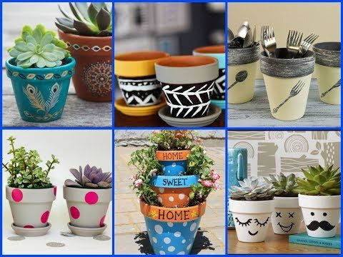 Diy Flower Pot Projects For Decorating Your Garden Plant Pot Design Diy Flower Pots Pot Designs
