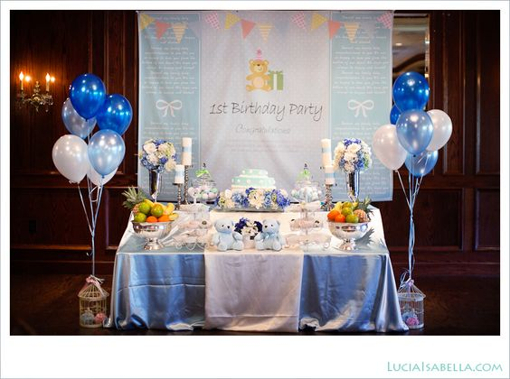 On the side the o 39 jays and tags on pinterest for Baby boy 1st birthday decoration ideas