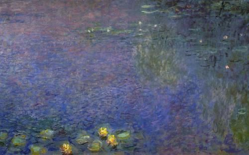 "Claude MONET - ""Matin"" (troisième panneau), Musée de l'Orangerie, Paris.  This was my absolute favorite in Paris.  All of the Water Lilly paintings were just breath taking."