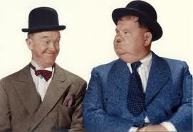 """Well, here's another nice mess you've gotten me into..."" Laurel and Hardy"