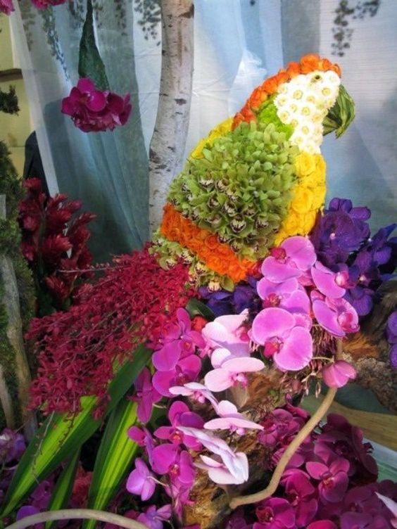 Colorful Parrot. PB. largefishsculpture. Fish Sculpture