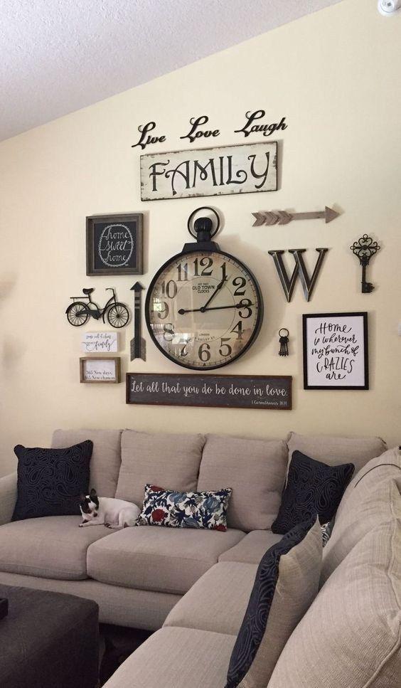 11 Adorable Wall Decorations To Fill Your Blank Space Wall Godiygo Com Rustic Wall Decor Farmhouse Wall Decor Farm House Living Room