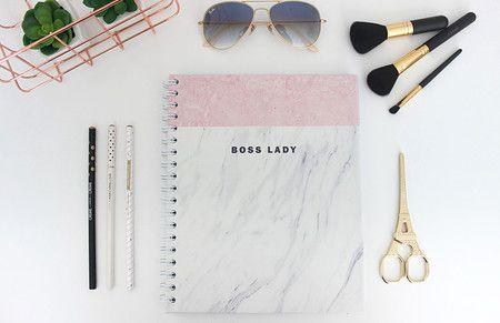 Caderno Boss Lady Mármore