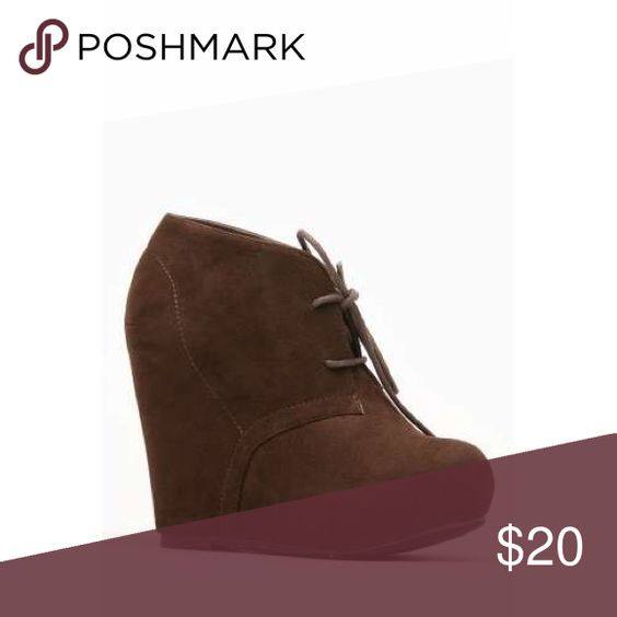 Brown suede booties Like new Shoes Ankle Boots & Booties