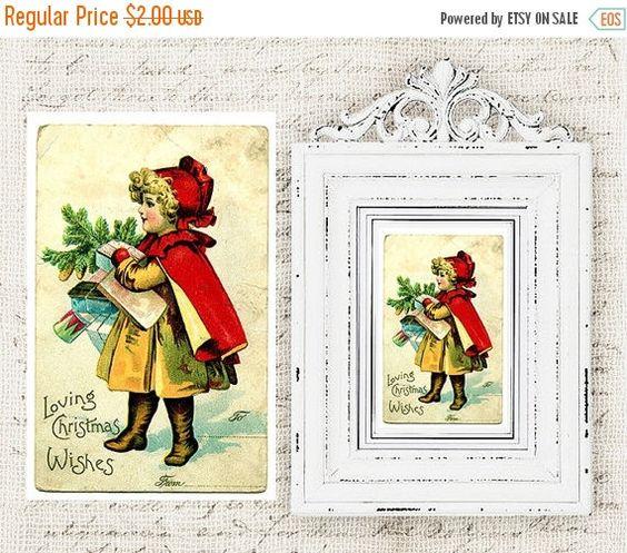 50% OFF SALE Digital Christmas Postcards  Antique by DIYVintageArt