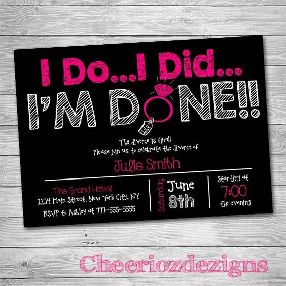 I Do.. I Did.. I'm Done Divorce Party by CheeriozDezigns on Etsy