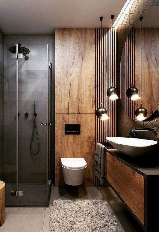 53 Wonderful Small Bathroom Remodel Ideas On A Budget In Your Home 47 Modern Bathroom Decor Bathrooms Remodel Small Bathroom