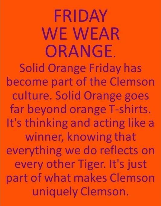 We wear ORANGE!