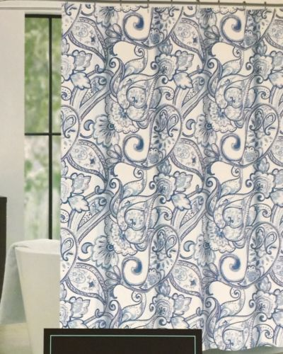 Cynthia-Rowley-Navy-Blue-Water-Paisley-Floral-Fabric-Shower-Curtain