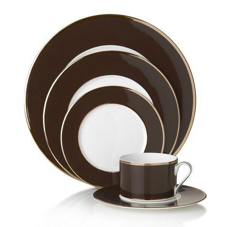 Brown/Gold 60 Piece Dinnerware Set