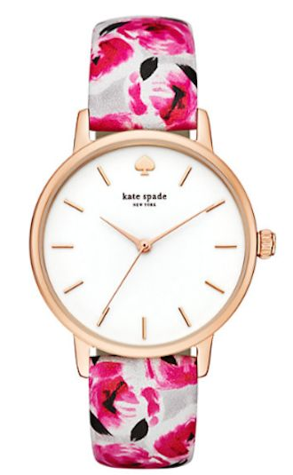 rose print kate spade watch