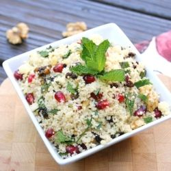 Couscous Salad with Pomegranate Seeds & Mint ~ a refreshingly delicious flavor combination.