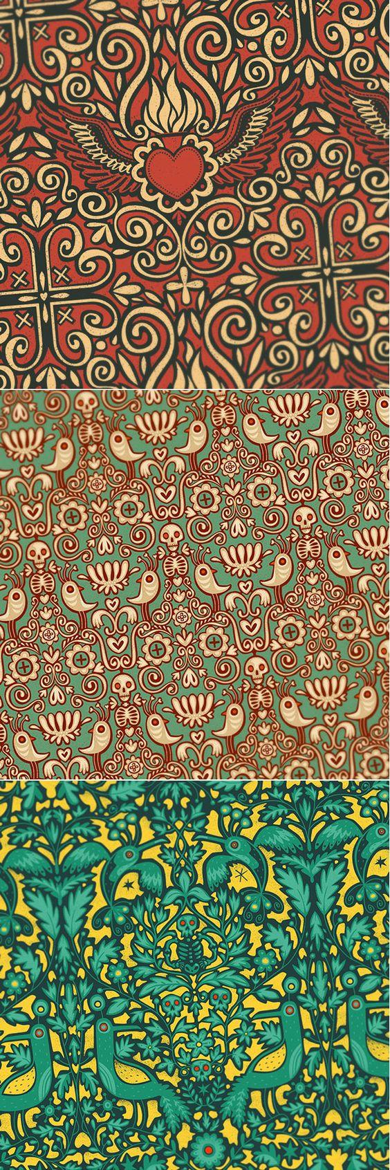 Patterns by Steve Simpson  - https://www.behance.net/gallery/22675177/Patterns-Collection