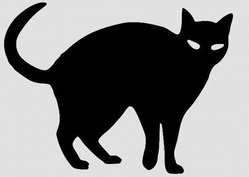 Nube Social De Contenidos Digitales Compartidos En Tiempo Real Black Cat Drawing Black Cat Silhouette Cat Silhouette