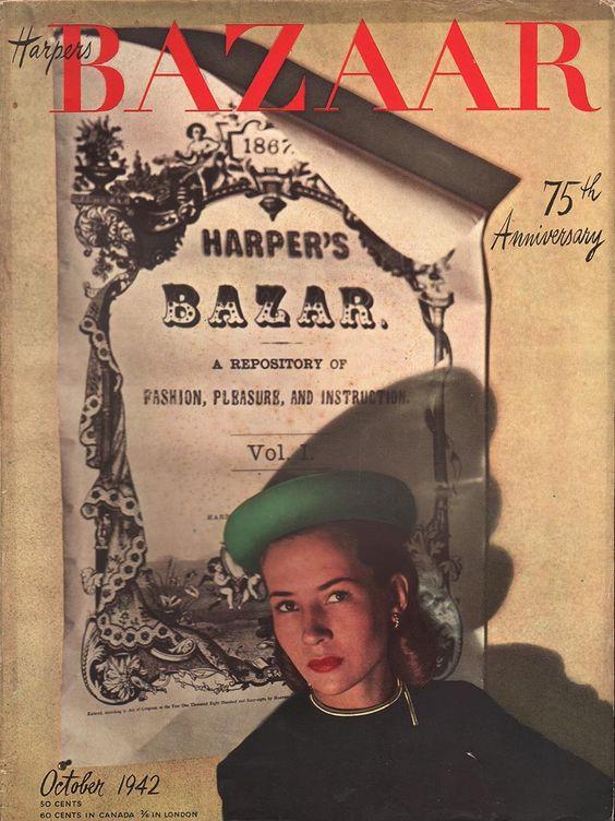 Harper's Bazaar October 1942 | October, Harpers bazaar and Bazaars