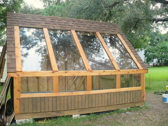 Diy greenhouse from reclaimed pallets reclaimed glass for Materials to make a greenhouse