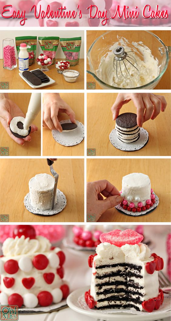 Easy Valentine's Day Mini Cakes: